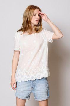 blouse Sailor écru 100% coton - chemise - Des Petits Hauts