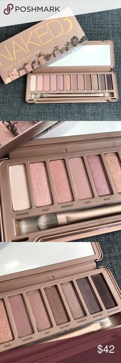 BNIB URBAN DECAY NAKED 3 PALETTE EYESHADOW PRIMER Brand new in box. Getting rid of some of my backups that I don't think I'll be using. 100% Authentic as always. Purchased by me. Comes with primer samples. Urban Decay Makeup Eyeshadow