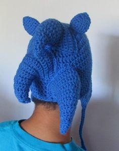Classic Sonic the Hedgehog Earflap Crochet fan art hat, made to order