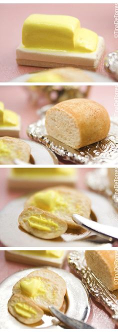 Miniature: 1:12 scale Bread And Butter Details by kalos-eidos-skopein.deviantart.com on @deviantART