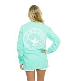 Seaside Logo Tee L/s | Island Reef | The Southern Shirt Company
