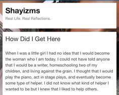 How did I get here????? Check it out! #newpost #Shayizms
