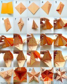 wir haben seinen stern aufgehen sehen origami paper ornaments and paper folding. Black Bedroom Furniture Sets. Home Design Ideas