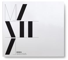 "Title typography for ""MVSICA"" : I like how the thick vertical strokes are evocative of piano keys."