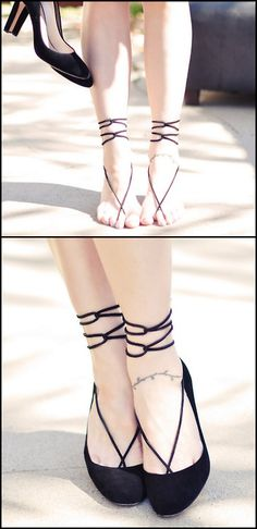 DIY Leather Strap Barefoot Sandal Tutorial. Wear it with or without shoes. Tutorial by  …love Maegan