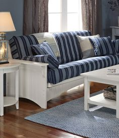 painted cottage futon eureka wood love seat futon frame in white finish   loveseat futon      rh   pinterest