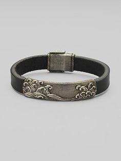 David Yurman Wave Leather Bracelet