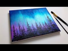 Beginners Painting With Acrylics - Acrylic Painting For Beginners Northern Lights Forest Aurora 100 Artistic Acrylic Painting Ideas For Beginners Easy Canvas 168 Painting As A Beginner . Cute Canvas Paintings, Canvas Painting Tutorials, Easy Canvas Painting, Acrylic Painting For Beginners, Acrylic Painting Techniques, Acrylic Painting Tutorials, Beginner Painting, Simple Paintings For Beginners, Abstract Painting Tutorial Acrylics