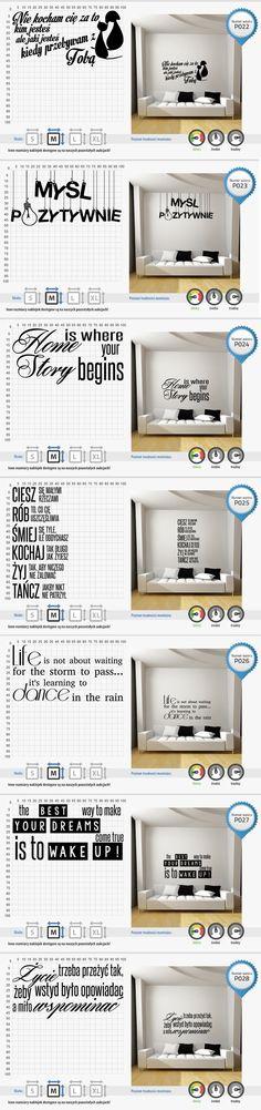 #Cytaty Napisy Naklejki na ścianę ścienne 100x50cm (5277584779) - Allegro.pl - Więcej niż aukcje.