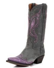 Women's Mariposa Boot - Aged Black and Purple, Aged Black / Purple