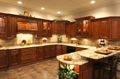 There are hundreds of awesome design ideas for kitchen cabinets and this article will discuss a few of the more popular ones. Many homeowners, whether they are designing a kitchen for a new home or an existing home, will find that selecting a reputable. Beautiful Kitchen Cabinets, Cherry Cabinets Kitchen, Kitchen Decor, Contemporary Kitchen, Kitchen Cabinet Styles, Kitchen Layout, Interior Design Kitchen Contemporary, Kitchen Renovation, Kitchen Design