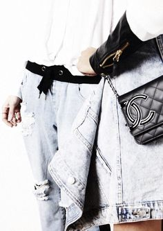 Ripped Denim + Chanel =  perfection