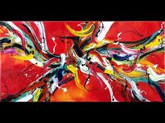 Online Abstract Art Lessons How to Create Large Artworks Art Techniques - YouTube