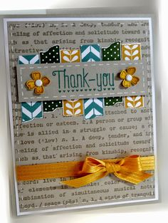 RECIPE: Stamps: Tape It, Something to Say, Another Thank You, By Definition Paper: Sahara Sand, Whisper White, Hello Honey Ink: Sahara...