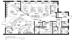 Dental Office Floor Plans, Orthodontic and Pediatric Dental Office Decor, Dental Office Design, Design Offices, Modern Offices, Earthship Plans, Office Floor Plan, Clinic Design, Healthcare Design, Dental Bridge