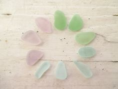 Bulk Lot of 10 // Small Pendants // PASTEL MIX Sea Glass by GitanaDeLaPlaya, $8.99
