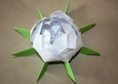 Fotopostup na lekno z papiera 20 3d Origami, Cake Pops, Cake Pop, Cakepops