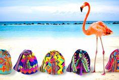 Bolsos inspirados en la tradición Wayuu, creados por Alana.