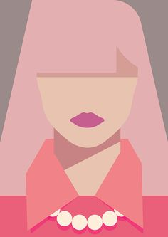 Pastel woman on Behance