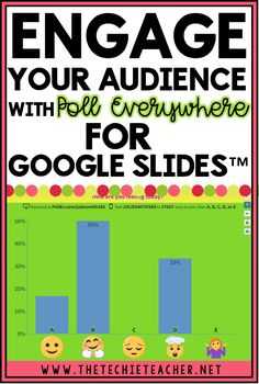Engage Your Audience with Poll Everywhere for Goog Teaching Technology, Technology Integration, Educational Technology, Teaching Resources, Medical Technology, Energy Technology, Technology Lessons, Futuristic Technology, Business Technology