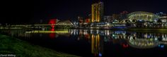 Adelaide Skyline | Panorama of Adelaide skyline from the River Torrens by night