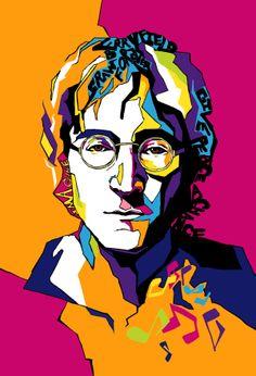 John Lennon by Vicky Phan, via Behance