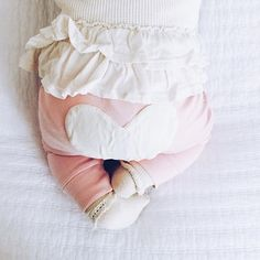 Organic cotton heart bum baby pants by Sapling Child. xo