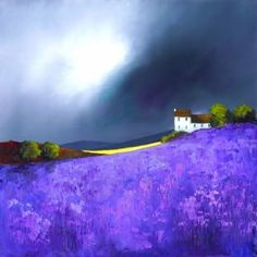 Luscious Lavendar by Barry Hilton ... Artisan Gallery UK