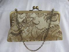 Gold brocade evening clutch /Wedding clutch purse  by jemdesign567, $40.00