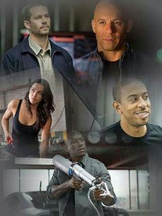Paul Walker Vin Diesel Ludacris Michelle Rodriguez Tyrese Gibson