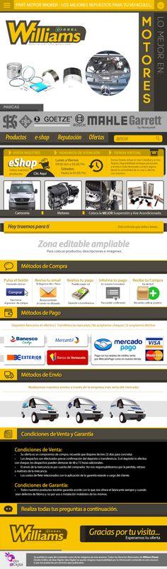 Cliente: William Diesel / Plantilla editable Mercadolibre / Propiedad Idea Digital / 2014 / #Mercadolibre #Design #Graphicdesign #diseño #diseñográfico #Ventas #creative #art #business #flatdesign #marketing #ideadigital  Visítanos: www.ideadigital.com.ve