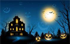 Fondo del copyspace de la casa encantada de Halloween Fotografía de archivo