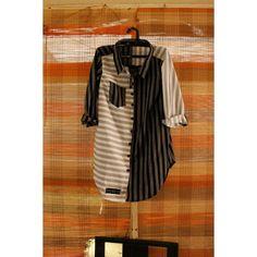 I was fascinated by stripes from the start. On clothing, they follow a woman's movements. . Kemeja Luirk SIze L LD 104 OPEN ORDER  IDR 209.900 WA 0852 7484 8029  #kemejalurik #kemejawanita #bluswanita #kemejaGaris #stripes #tenunindonesia #ikat