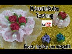 ROSAS HECHAS CON ESPIGUILLA PARA DIVERSOS USOS . - YouTube