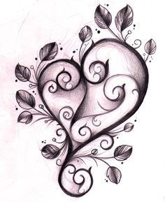 Heart Tattoo Design Sketch by *WillemXSM