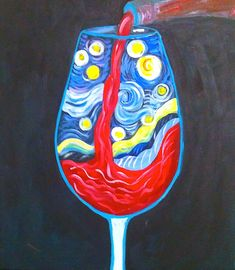 Wine Logo - Wine Cork Crafts Awesome - Best Wine Fruity - Wine Making Tools - Wine Painting On Canvas - Fancy Wine Glass Wine Painting, Painting & Drawing, Painting Canvas, Wine And Canvas, Halloween Painting, Wine Art, Paint And Sip, Paint Party, Vincent Van Gogh