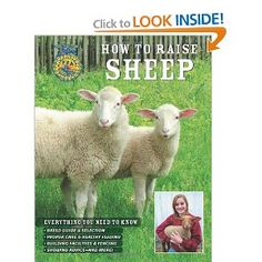 How to Raise Sheep  --    If you've ever envisioned sheep in your own pasture--one or two hobby animals or a full scale herd--this book is the perfect place to begin.  With information on everything from particular breeds to feed requirements, fencing and general care, showing and breeding and marketing,