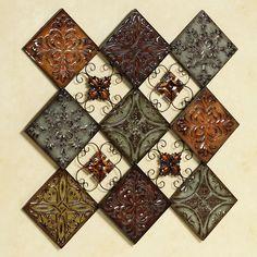 Braddon Tiled Medallion Wall Accent Multi Jewel