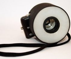 Make a Ring Flash Diffuser for your Point and Shoot camera from household items