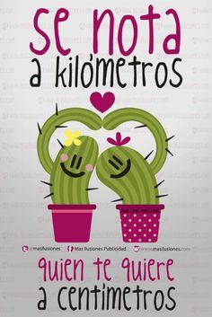 Se nota a kilómetros quien te quiere a centímetros!!! Feliz fin de semana ilusionados... y no oculten cuanto quieren a alguien que eso se nota! #sonrie    https://www.facebook.com/MasIlusiones http://www.masilusiones.com