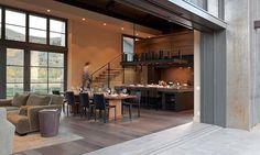 Sun Valley Mountain Modern by Signum Architecture Kitchen, stairs, open layout