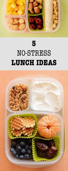5 no-stress lunch ideas that will make all of your mornings easier.