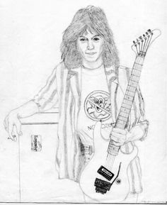 Eddie Van Halen pencil drawing done when I was 15