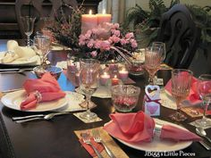A Valentines table spread