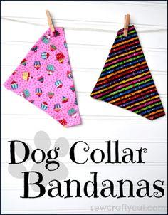 Dog Collar Bandanas | sewcraftycat.com