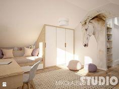 pokój dziewczynki na poddaszu-konie - zdjęcie od MIKOŁAJSKAstudio