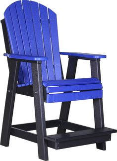 KEY FEATURES The Adirondack style translates well to this Balcony Height Chair, making it one of Luxcraft's most comfortable dining chairs. The Recycled Plastic Adirondack Balcony Chair has a sturdy b