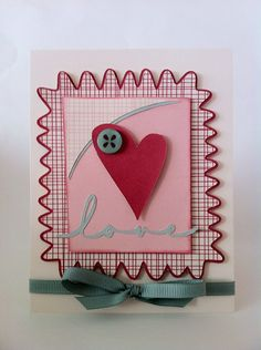 Courtney Lane Designs: love heart postage stamp card made using a Valentine Sweets Cricut Craft Room Exclusive.