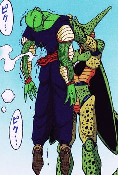 piccolospirit:  Piccolo vs Cell 2nd form sources : scans from Japanese Dragon Ball full colour by Akira Toriyama Published by JUMP COMICS - BIRD STUDIO About Namekku seijin According Databook :  Their body heals very quickly and they are able to regenerate, for  example by pushing one of their members. As the brain is not affected  directly, they can fully regenerate.