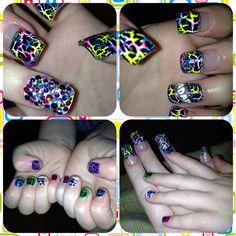 #nails #matching #crackle nails #creative #nail art